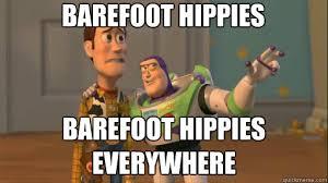Barefoot hippies